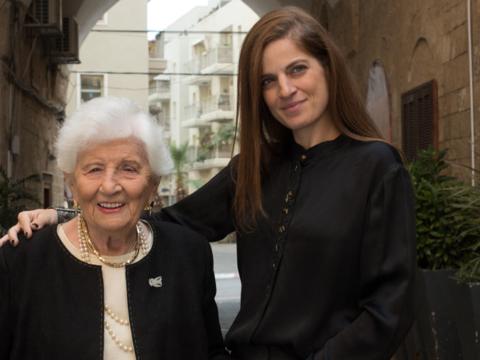 Sharon Tal with Ruth Dayan by Baruch Rafic