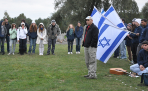 Me in Treblinka leading 11th graders from an Israeli high school.